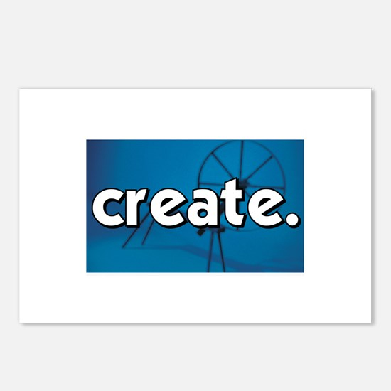Spinnning Wheel - Create - Cr Postcards (Package o