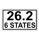 6 Stater Rectangle Sticker