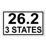 3 Stater Rectangle Sticker