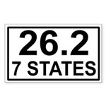 7 Stater Rectangle Sticker