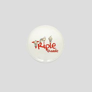Triple Trouble Mini Button