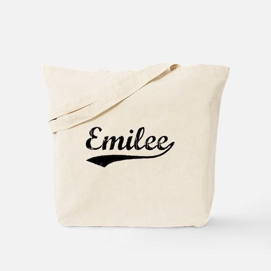 Vintage Emilee (Black) Tote Bag