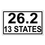 13 Stater Rectangle Sticker
