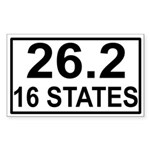 16 Stater Rectangle Sticker