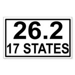 17 Stater Rectangle Sticker