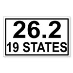 19 Stater Rectangle Sticker