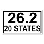 20 Stater Rectangle Sticker