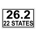 22 Stater Rectangle Sticker