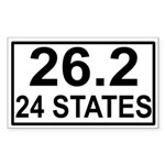 24 Stater Rectangle Sticker