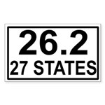27 Stater Rectangle Sticker