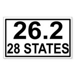 28 Stater Rectangle Sticker