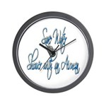 Shower with an Airman ver2 Wall Clock