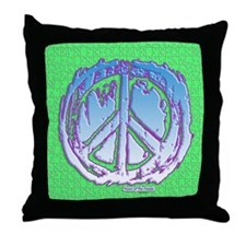 Peace Puzzle Throw Pillow