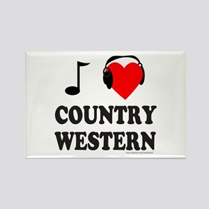 COUNTRY WESTERN MUSIC Rectangle Magnet