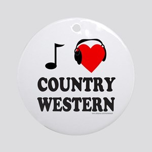 COUNTRY WESTERN MUSIC Ornament (Round)