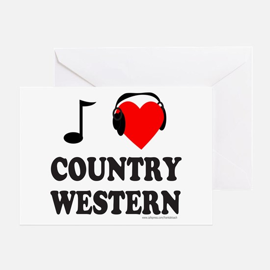COUNTRY WESTERN MUSIC Greeting Card