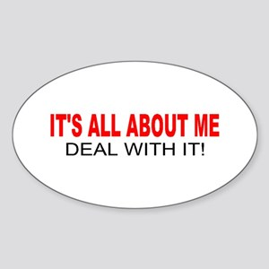ALL ABOUT ME Oval Sticker