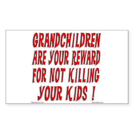 Grandchildren Reward Rectangle Sticker
