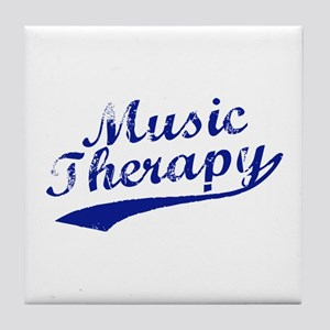 Team Music Therapy Tile Coaster