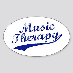Team Music Therapy Oval Sticker