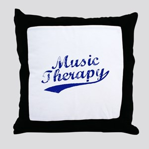 Team Music Therapy Throw Pillow