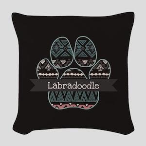 Labradoodle Woven Throw Pillow