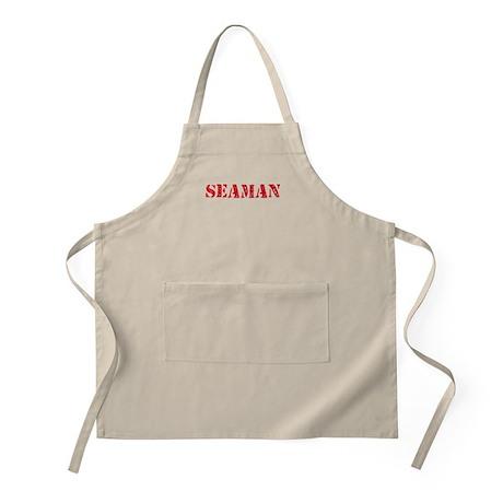 Seaman Red Stencil Design Light Apron