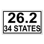 34 Stater Rectangle Sticker
