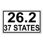 37 Stater Rectangle Sticker