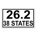 38 Stater Rectangle Sticker