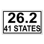 41 Stater Rectangle Sticker