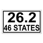 46 Stater Rectangle Sticker