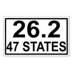 47 Stater Rectangle Sticker