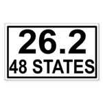 48 Stater Rectangle Sticker