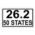 50 Stater Rectangle Sticker
