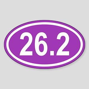 26.2 Marathon Purple Euro Oval Sticker