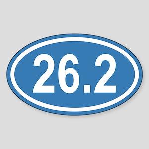 26.2 Marathon Blue Euro Oval Sticker