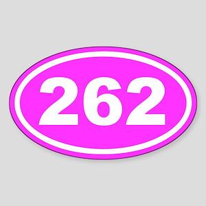 262 26.2 Marathon Pink Euro Oval Sticker