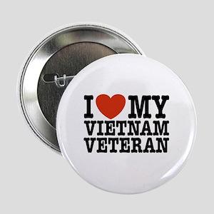 "I Love My Vietnam Veteran 2.25"" Button"