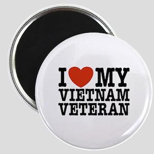 I Love My Vietnam Veteran Magnet