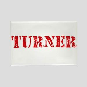 Turner Red Stencil Design Magnets