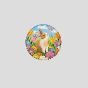Garden Bunny Mini Button