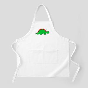 Smiling Green Stegosaurus BBQ Apron