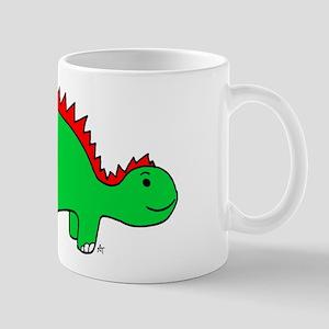 Smiling Green Stegosaurus Mug