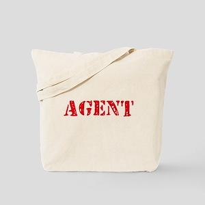 Agent Red Stencil Design Tote Bag