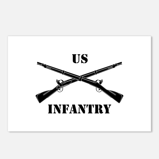 Infantry Branch Insignia (3b) Postcards (Package o
