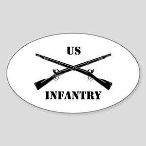 Infantry Branch Insignia (3b) Oval Sticker