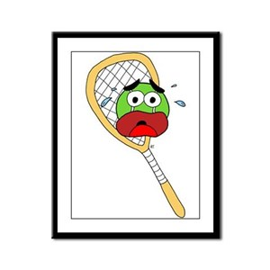 Tennis Ball and Racket Framed Panel Print