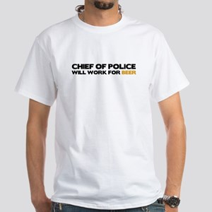 Chief of Police White T-Shirt