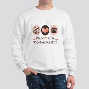 Peace Love Tibetan Mastiff Sweatshirt